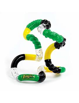 Tangle Jr. Textured Sensory Fidget Toy, Green Yellow Black by Tangle