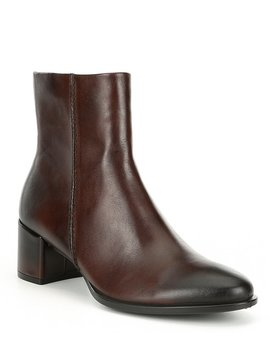 Shape 35 Leather Block Heel Booties by Ecco