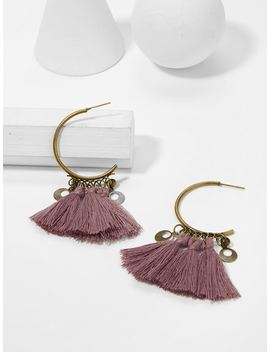 Tassel Decorated Drop Earrings by Sheinside