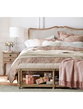 Claremont Headboard With Metal Bed Frame by Pottery Barn