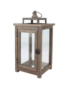 Better Homes And Gardens Large Lantern, Farmhouse Rustic Finish by Better Homes & Gardens