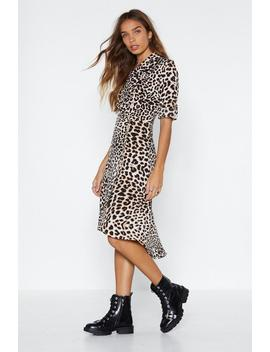You Go Grr L Leopard Dress by Nasty Gal