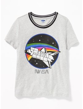 Nasa® Graphic Ringer Tee For Girls by Old Navy