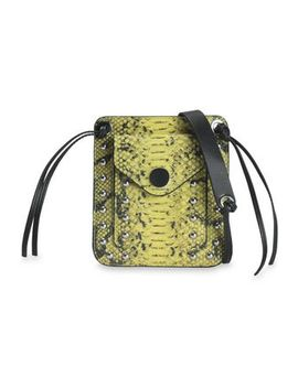 Snake Effect Leather Shoulder Bag by 3.1 Phillip Lim