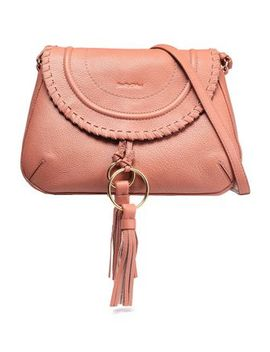 Whipstitch Trimmed Pebbled Leather Shoulder Bag by See By ChloÉ