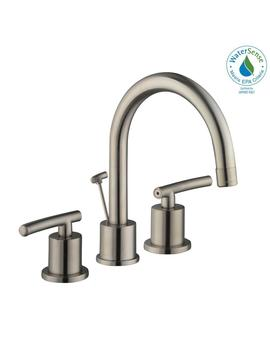 Dorset 8 In. Widespread 2 Handle High Arc Bathroom Faucet In Brushed Nickel by Glacier Bay