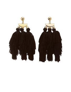 Tassel Drop Earrings by Charlotte Russe