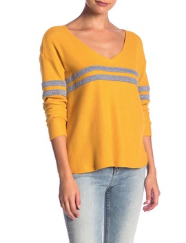 Striped Varsity Sweater by Socialite