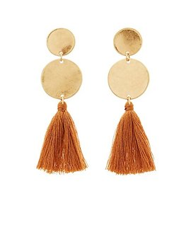 Circle Tassel Drop Earrings by Charlotte Russe