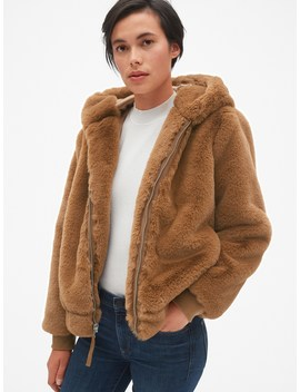 Hooded Faux Fur Jacket by Gap