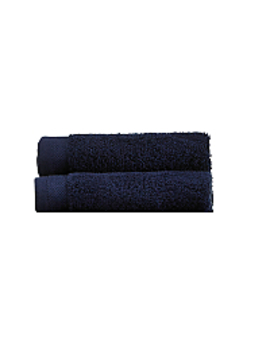 100 Percents Cotton Face Cloths   Navy   2 Pack by Asda