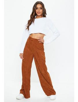 Tan Cord Wide Leg Pants by Missguided