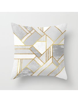 Gold City Throw Pillow by