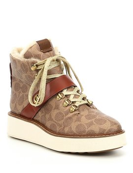 Signature Canvas Urban Hiker Boot by Coach