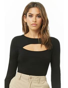 Cutout Long Sleeve Bodysuit by Forever 21