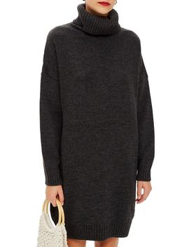 Turtleneck Sweater Dress by Topshop