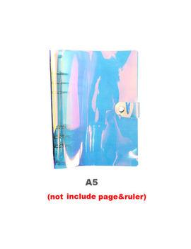 Transparent Pvc Loose Leaf Ring Planner Clips Laser Binder Notebook Cover by Unbranded