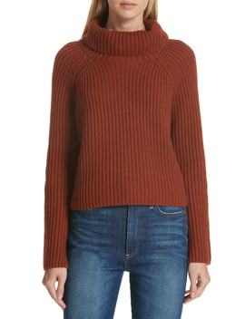 Ribbed Cashmere Turtleneck Sweater by Lewit