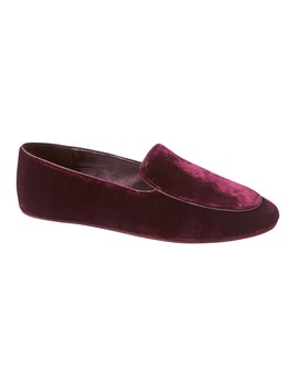 Silk Blend Velvet Slipper by Banana Repbulic