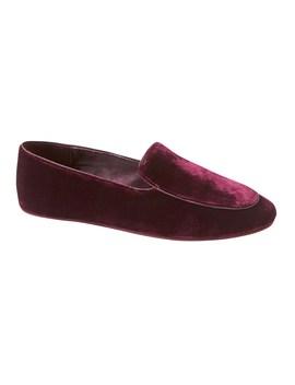silk-blend-velvet-slipper by banana-repbulic