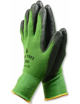 Pine Tree Tools Bamboo Working Gloves For Women And Men Ultimate Barehand Sensitivity Work Glove For Gardening, Fishing, Clamming, Restoration Work Black/Green,L,(1 Pack) by Pine Tree Tools