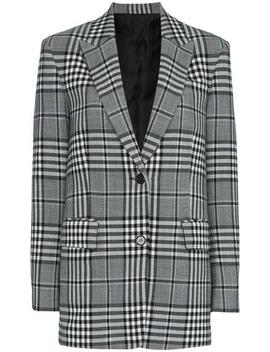 Check Wool Blend Blazer by Juun.J