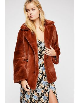 Solid Kate Faux Fur Coat by Free People