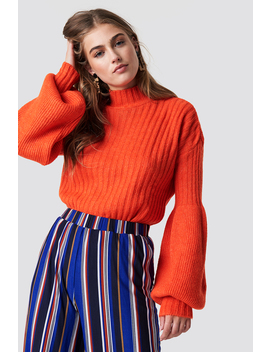 Balloon Sleeve Knitted Sweater by Trendyol