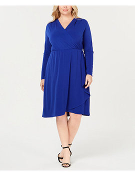 I.N.C. Plus Size Faux Wrap Dress, Created For Macy's by Inc International Concepts