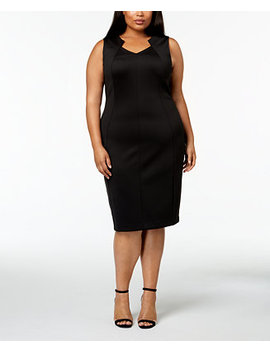 Plus Size Sleeveless Sheath Dress by Calvin Klein