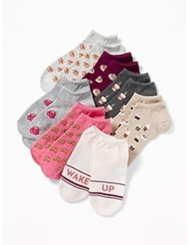 7 Pack Printed Ankle Socks For Women by Old Navy