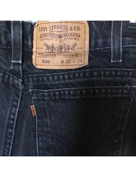 Vintage Levi's 550 Black Straight Leg Mom Jeans by Levi's