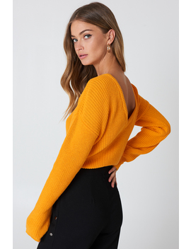 Knitted Deep V Neck Sweater by Na Kd
