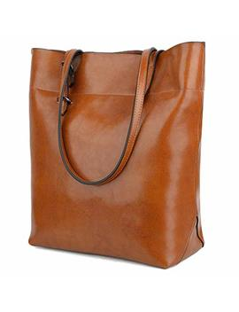 Yaluxe Women's Soft Leather Work Tote Shoulder Bag (Upgraded 2.0) by Yaluxe