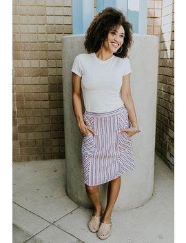 Geneva Stripe Skirt by Roolee