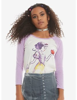 Disney Snow White And The Seven Dwarfs Watercolor Girls Raglan by Hot Topic