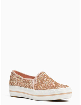 Keds X Kate Spade New York Triple Decker Glitter Sneakers by Kate Spade