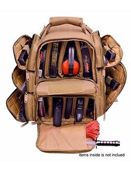 Explorer Backpack + Range Bag With Large Padded Deluxe Tactical Divider And 9 Clip Mag Holder   Rangemaster Gear Bag by Explorer
