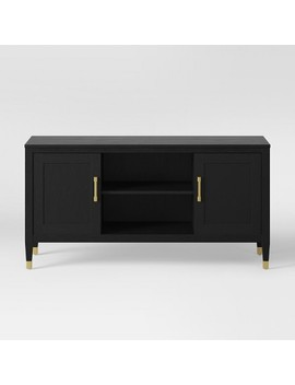 Duxbury Black Tv Stand With Gold Feet   Threshold™ by Shop This Collection