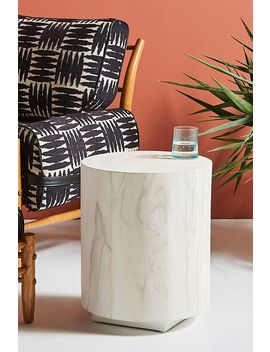 Swirled Drum Side Table by Anthropologie