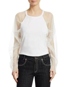 Tulle Sleeve T Shirt by See By Chloé