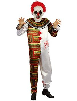 U Look Ugly Today Mens Halloween Creepy Clown Cosplay Costume For Adult Fancy Party Dress by U Look Ugly Today