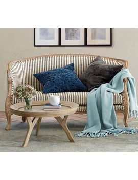 Bergere Upholstered Settee by Pottery Barn