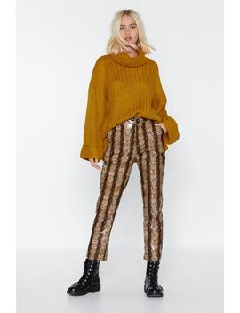 Step Hem Oversized Roll Neck Sweater by Nasty Gal