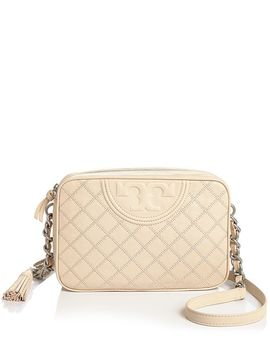 Fleming Medium Leather Camera Bag by Tory Burch