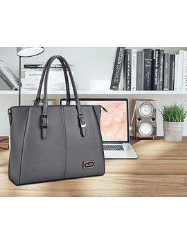 Iaitu Laptop Tote Bag, 15.6 Inch Professional Laptop Case Satchel Bag Women Computer Bag For Office Business (Black) by Iaitu