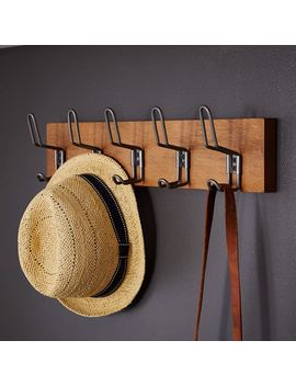 Industrial Multi Hook, Wood + Steel, Large by West Elm