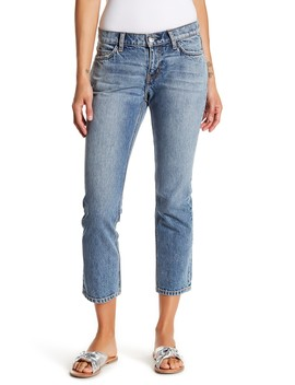 The Cropped Straight Leg Jeans by Current/Elliott