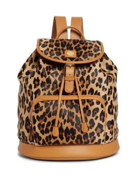 Medium Leopard Backpack by Mcm