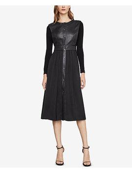 Faux Leather Vest Dress by Bcbgmaxazria